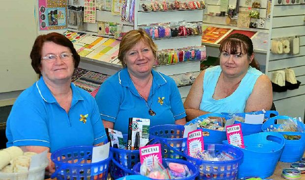 CLOSING DOWN: Rosemary Gowlett, Leonie Croxon and Teena Hopkins are selling everything at their family's My Scrappin' Shop with prices marked down by 60%.