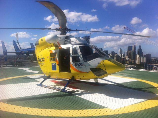 The boy was airlifted to Lady Cilento Children's Hospital.