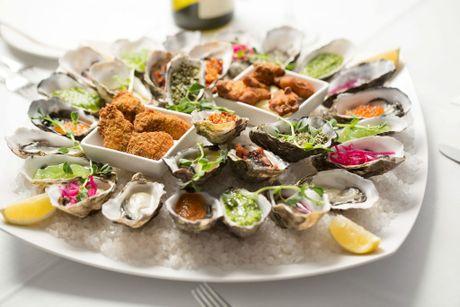 Barilla Bay oysters platter.