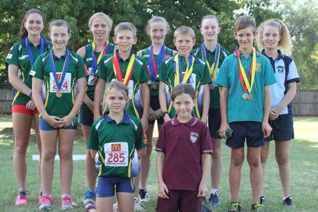 MEDAL WINNERS: The South Burnett Little Athletes who won medals at the regional championships.Photo Keagan Elder / South Burnett Times