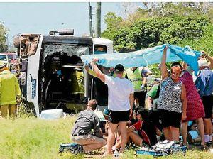 Crash survivors still in hospital