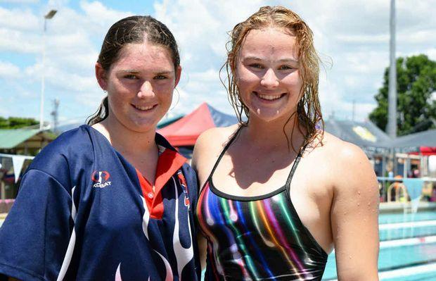 SWIMMER SISTERS: Kiralea and Sharna Wilson's skills shone.