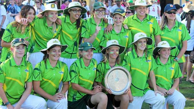 VICTORIOUS: The successful North Coast CHS representative side with the NSW CHS Championship plate.