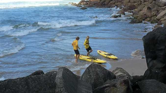 Evans Head Surf Life Savers were called to an emergency incident at Shark Bay