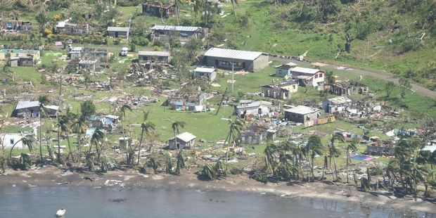 The extend of the damage caused by the cyclone.