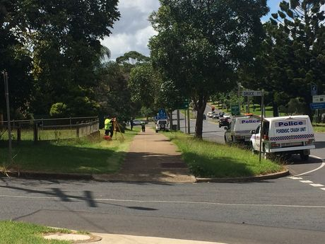 Forensic examiners at the scene of an alleged serious assault in Wilsonton.