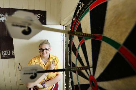 Ipswich Junior Sportstar of the month is dart player Tiarna Smith, 17. Photo: David Nielsen / The Queensland Times