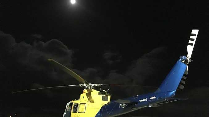 A man was flown to Toowoomba Hospital from Kingaroy last night. Photo Contributed