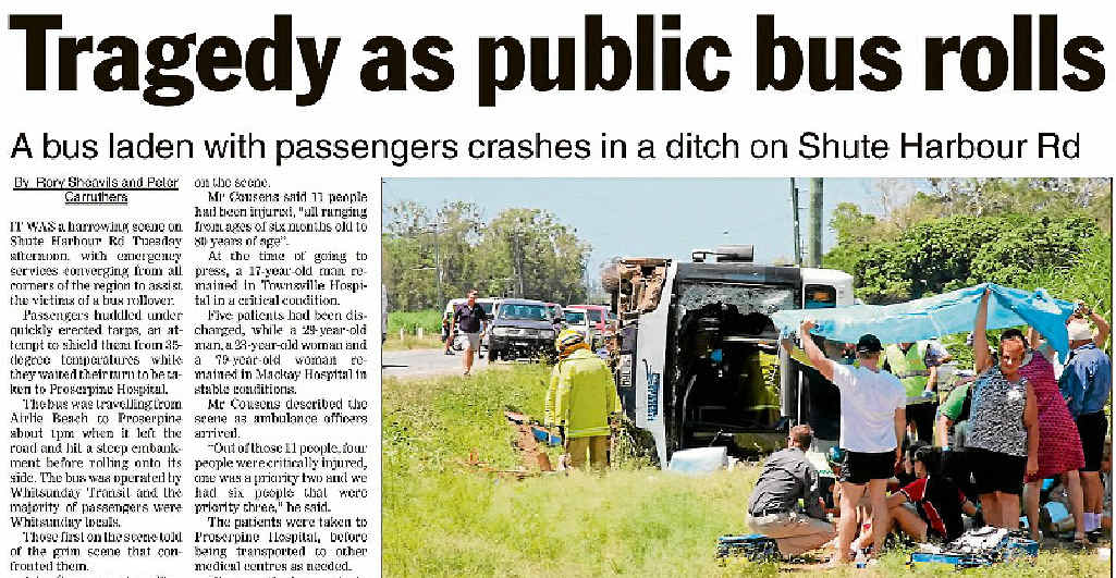 AT THE SCENE: Last week's Whitsunday Times.