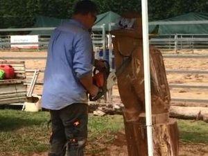 Chainsaws, wood chopping at Killarney Show