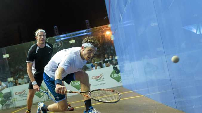 Yamba squash player and Australian number one Cameron Pilley during the 2016 Taeq Squash Colombia PSA Open. Pilley bowed out to Egypt's Tarek Mommen in the quarter-finals.