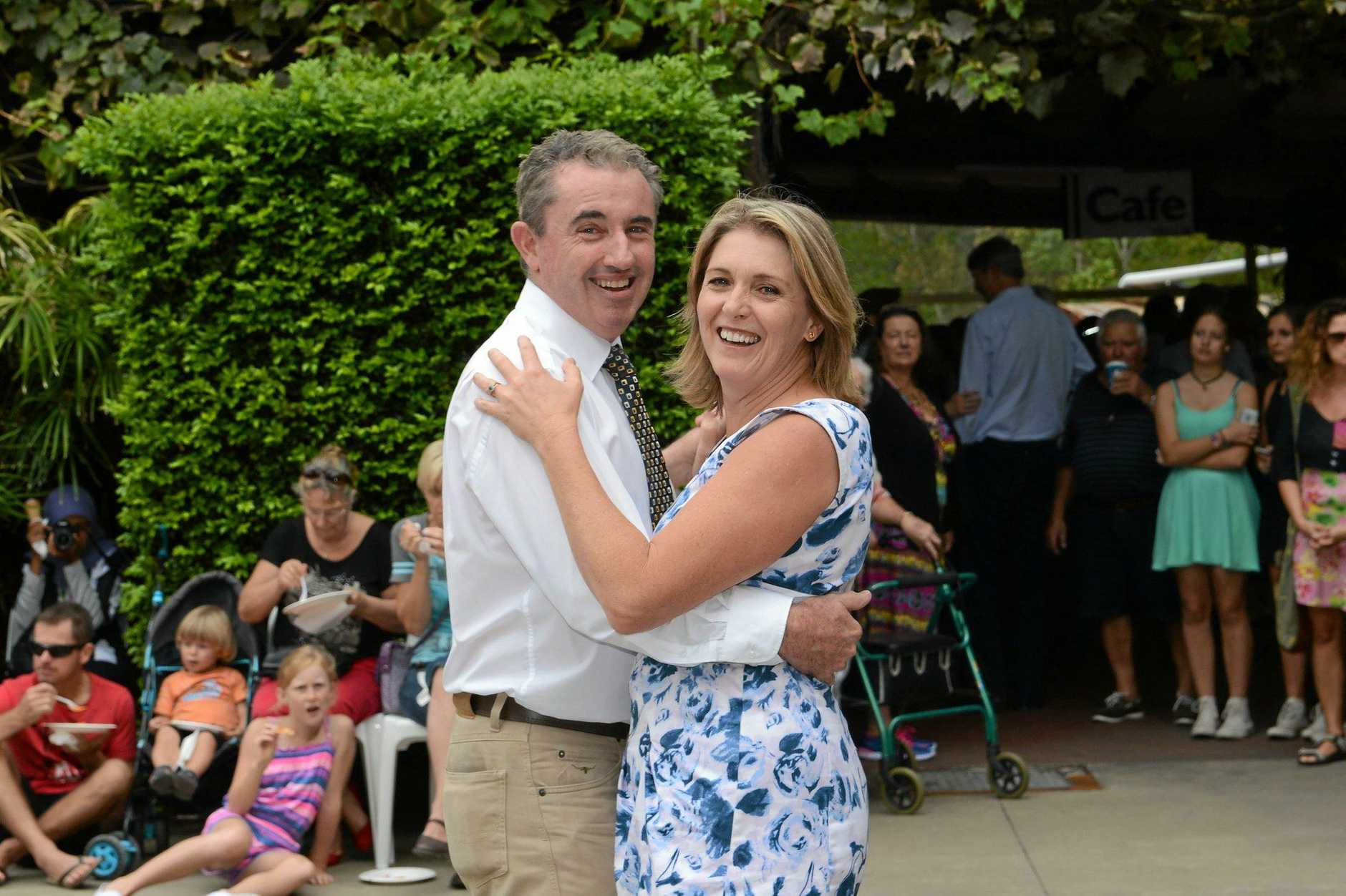 Kevin Hogan (Federal Member for Page) and his wife Karen Hogan  at the Carnevale Italiano in New Italy Photo Mireille Merlet-Shaw / The Northern Star