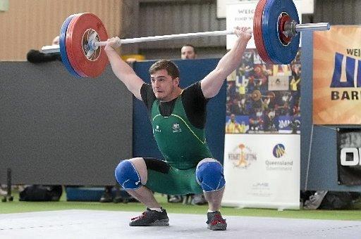 TOP SPOT: Weightlifter Ben Shaw