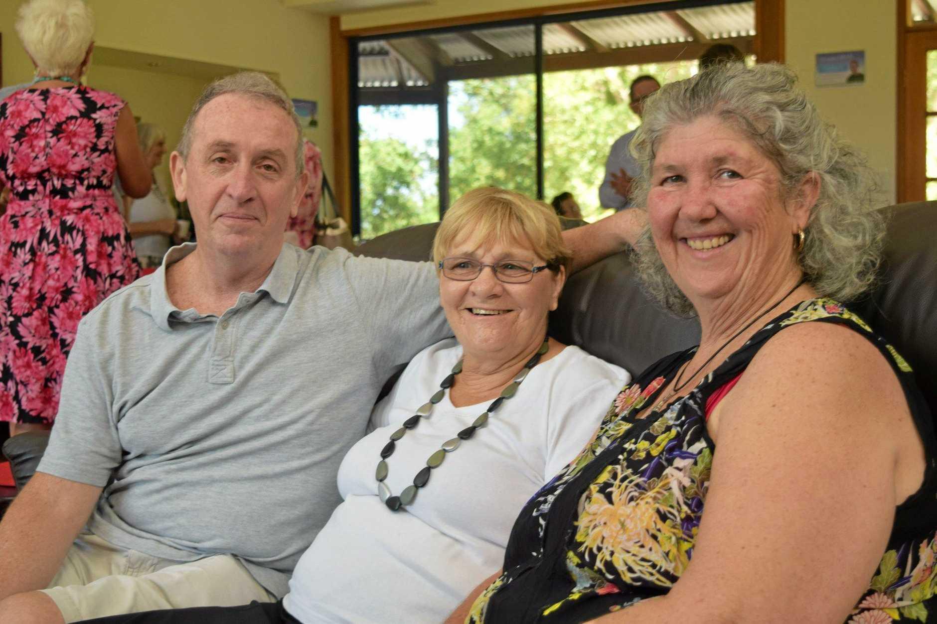 Former client Paul Rose, volunteer Rhona Marr, cook volunteer Debra Summerfield.