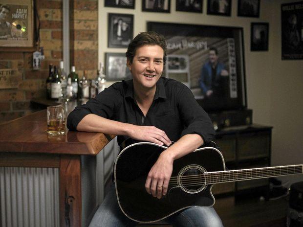 STAR: Country music star Adam Harvey.