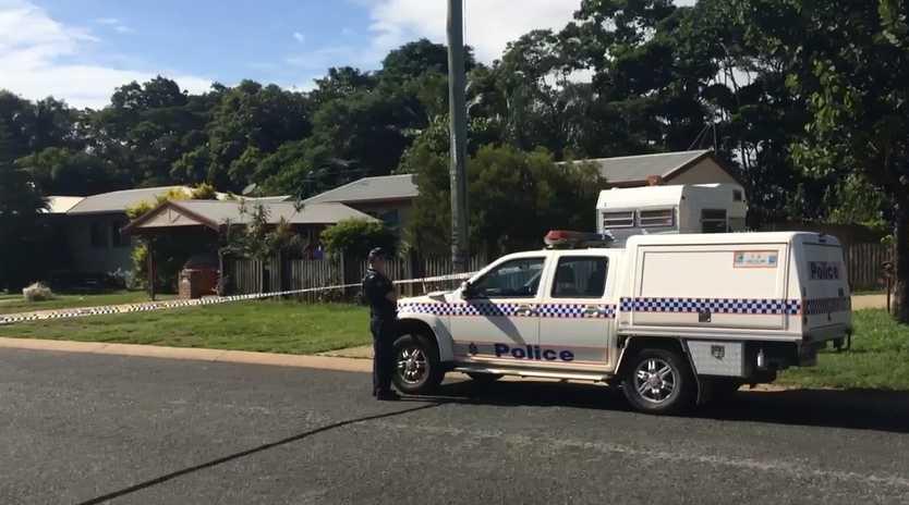 Police on scene at Harrington St in North Mackay.