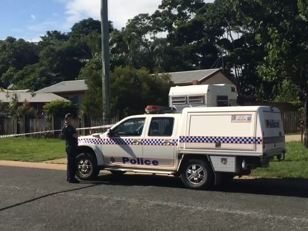 Police on scene at Harrington St in North Mackay.