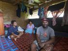 Seru Pepeli, right, with Litta Baleiwai, left, and his mother-in-law Queenie Baleiwai. Their home in Lovu was destroyed by Cyclone Winston. Photo / Brett Phibbs