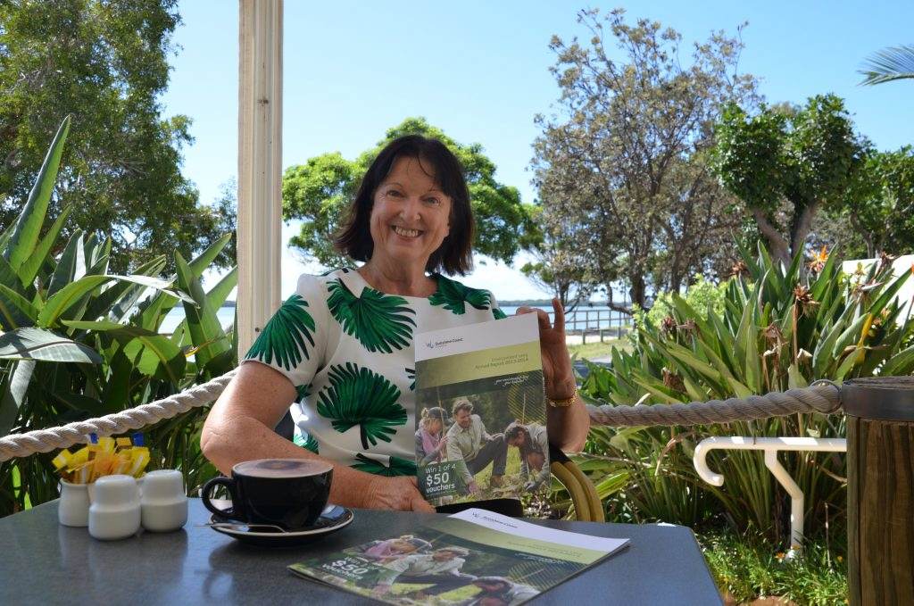 Divisional councillor Jenny McKay with the Environment Levy Annual Report.