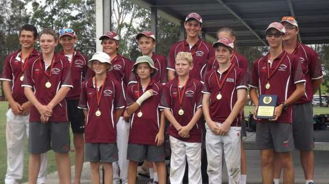 VICTORS CROWNED: South Burnett under-14 won Wide Bay Cricket Junior title.Photo Contributed