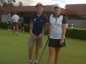 Golf siblings get in the swing