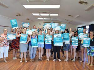 South Burnett teachers strike for equal pay, equal rights