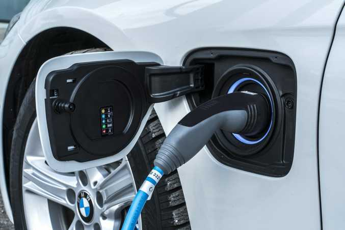 BMW Electric charging in its hybrid cars. Photo: Contributed.