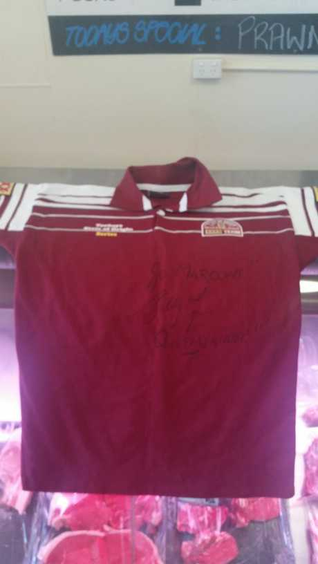 This signed State of Origin jersey is up for grabs. Photo Contributed