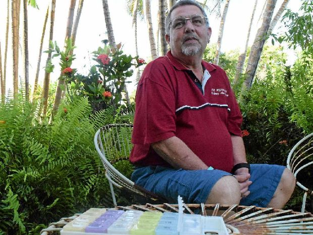 Rod Hamelink was hopeful medical marijuana may one day help relieve his symptoms of fibromyalgia. He encouraged others with chronic pain to call 0412 734 050 for support.