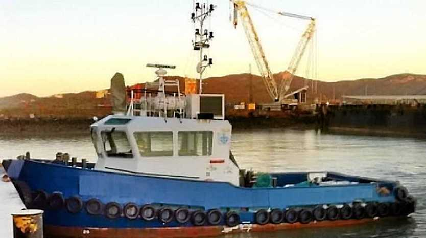 The 16m tug boat Peter Cookson is trying to sell out of Gladstone Harbour.