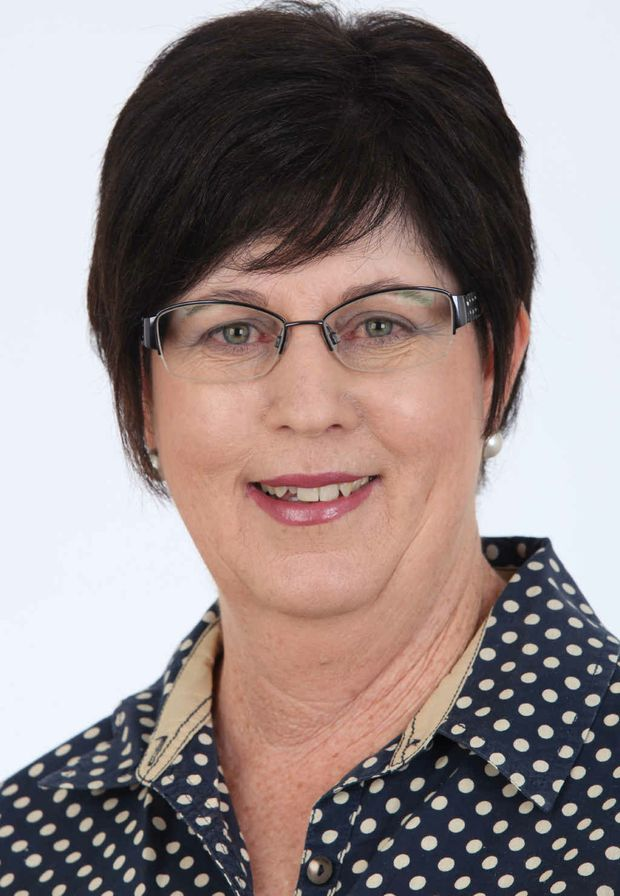 CAMPAIGNING: Central Highlands councillor and mayoral candidate Gai Sypher.