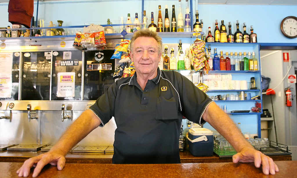 PUB PROBLEMS: Mick Kenny from The Globe Hotel where the man infected with Zika virus stayed.