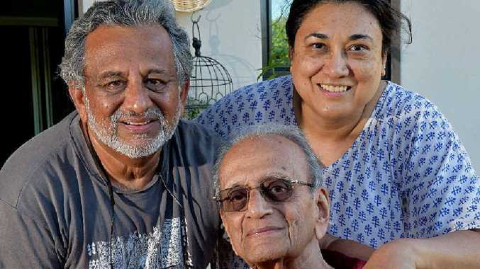 TIME RUNNING OUT: Surgeon Krishna Rao and his wife wife Sona are fighting to keep Krishna's 91-year-old father, Timmy, in Australia.