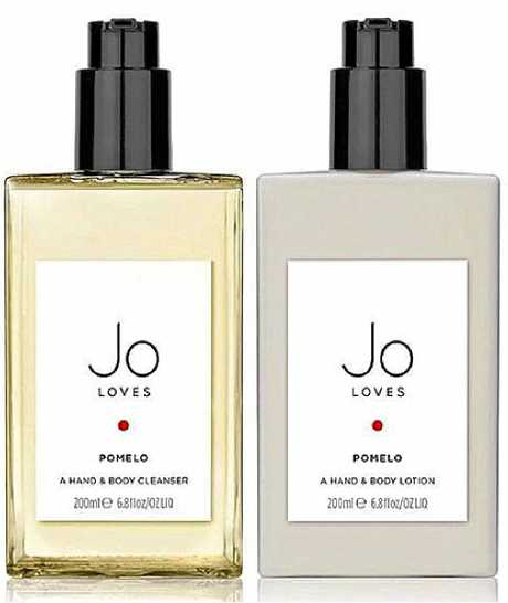 Jo Loves Pomelo Cleanser and Lotion, $136 (at time of print, plus shipping), http://www.joloves.com.