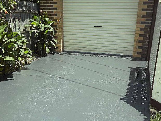 Adding a fresh coat of paint to your driveway will work wonders.