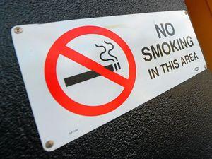 Hospital staff smoke in no smoking zone