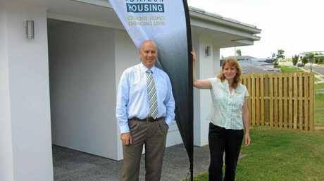 Jason Cubit, CEO of Horizon Housing, with Tweed mayor Katie Milne