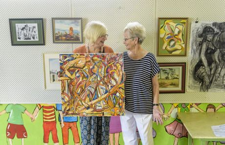 President of LCACA Jenny Thomas and life member June Alexander get together at the Maclean Showground - where the newly created LCACA festival will be held this year.