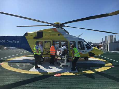 RACQ CareFlight Resue attends to the scene of a second farming accident in Chinchilla.
