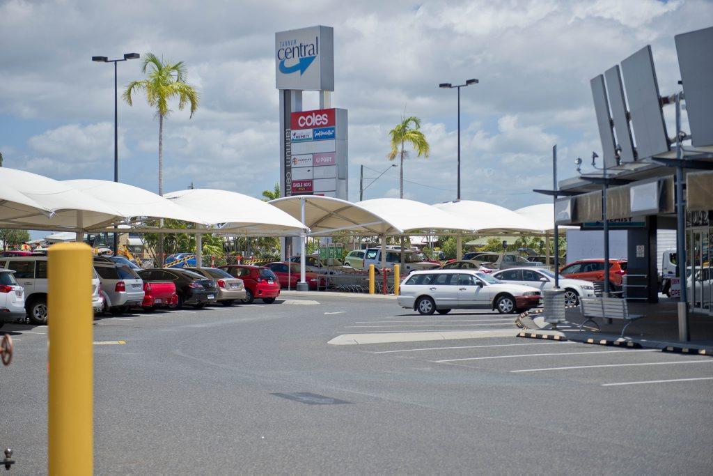 Tannum Sands Supermarket car park. Photo Paul Braven / The Observer