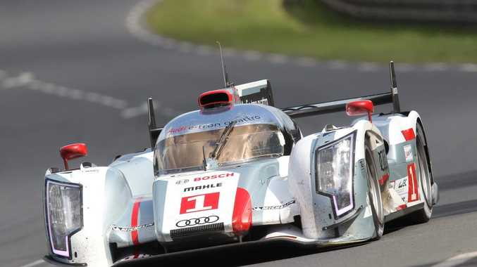 NICE PRESENT: Le Mans Audi R18 was gifted to Dindo by Audi to say thanks for a great career.
