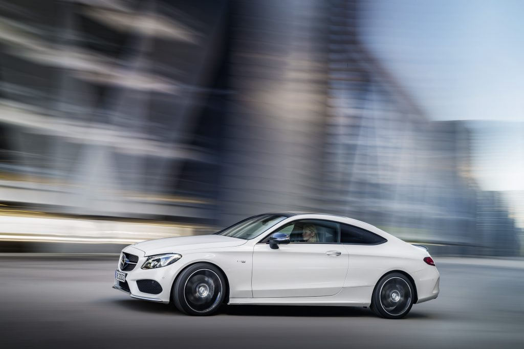 STILL QUICK: More affordable AMG C-Class coupe will be a compelling choice for those not wanting to stretch to a $159,110 C63 coupe.