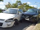 Woman crashes into two cars after having a 'medical problem'