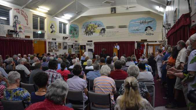 PACKED: There was standing room only at the Nanango election forum.Photo Katherine Morris / South Burnett Times