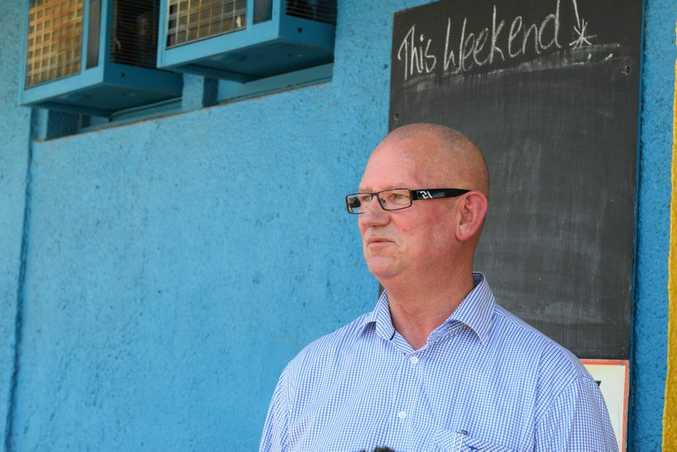 Rockhampton MP Bill Byrne outside The Globe Hotel. Photo Rachael Conaghan/ The Morning Bulletin
