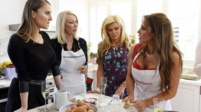 Jackie Gillies, Janet Roach, Gamble Breaux and Susie McLean in a scene from the TV series The Real Housewives of Melbourne.