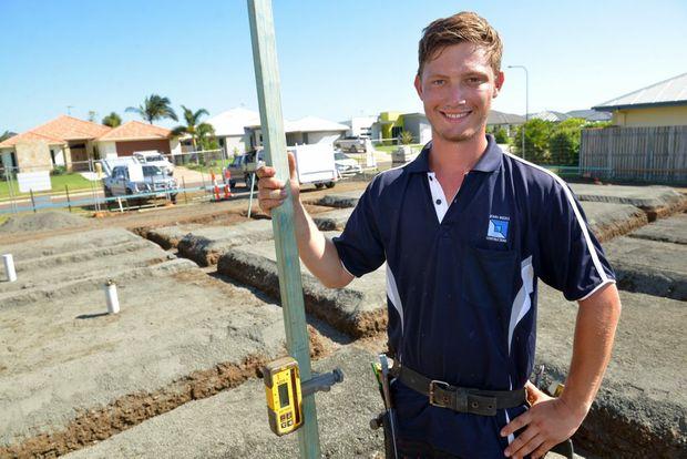 ON THE JOB: Apprentice carpenter, Jordan Muller. Photo: Max Fleet / NewsMail