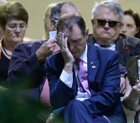 Ipswich Mayor Paul Pisasale attended the funeral of Steve Jones on Friday. The mayor was with Steve Jones when he collapsed last week.