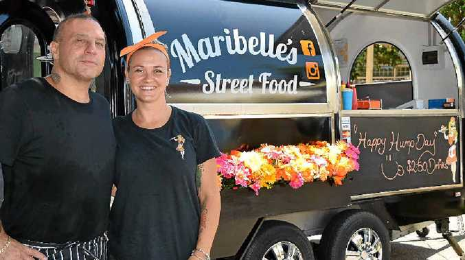 SERVICE WITH A SMILE: Maribelle's Street Food owners Bob and Belle Vitale.