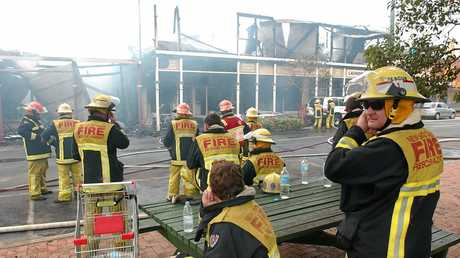 Fire fighters from four NSW Fire Brigades, plus the RFS, fought the fire to a standstill.